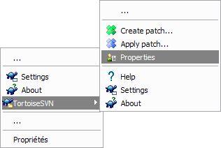 Turtoise SVN folder menu