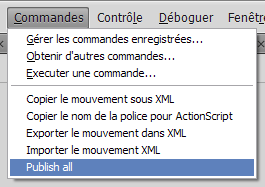 Command menu on CS4 French